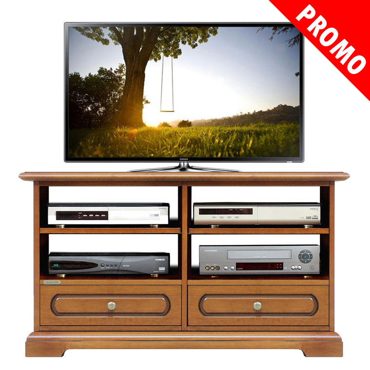 Promo meuble tv 2 tiroirs et tag res lamaisonplus for Meuble tv promo