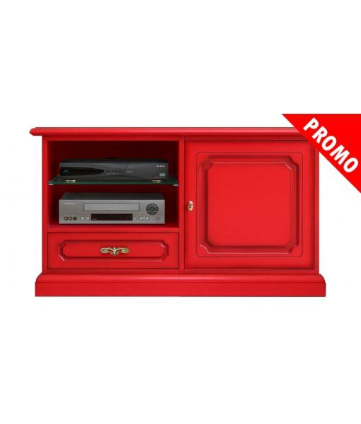 Meuble Tv rouge vif
