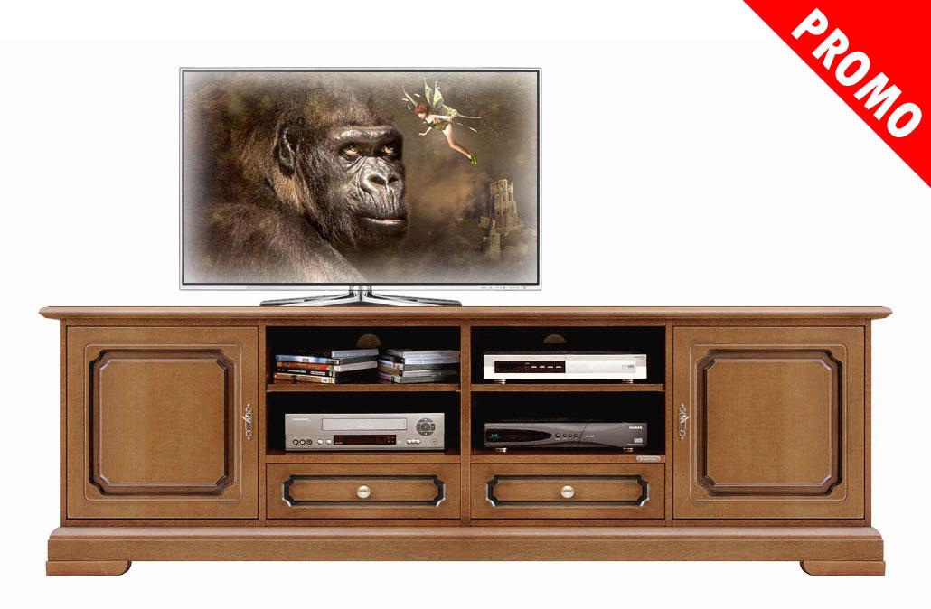 Promo meuble base tv pour salon 2 m tres lamaisonplus for Meuble tv promotion