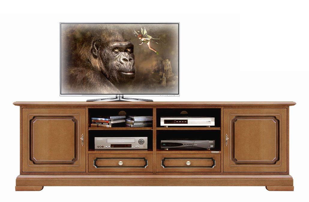Promo meuble base tv pour salon 2 m tres lamaisonplus for Meuble tv 2 metres