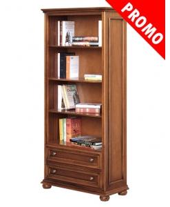 Meuble bibliothèque classique 2 tiroirs réf. 417-promo