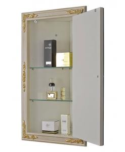Miroir d'angle avec rangement, miroir d'angle, miroir laquée, miroir cadre bois, miroir pour salle de bain