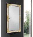 Miroir d'angle avec rangement, miroir avec conteneur, miroir coffre