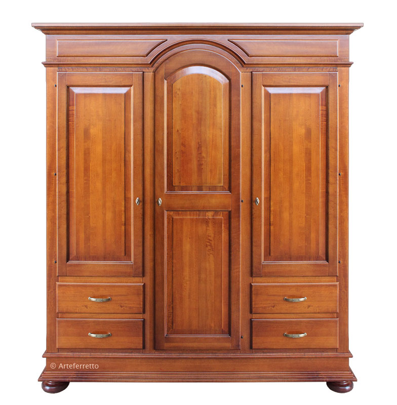 armoire de chambre bois massif lamaisonplus. Black Bedroom Furniture Sets. Home Design Ideas