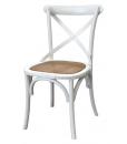 Lot de 4 chaises blanches Shabby Chic réf. E-6806-B