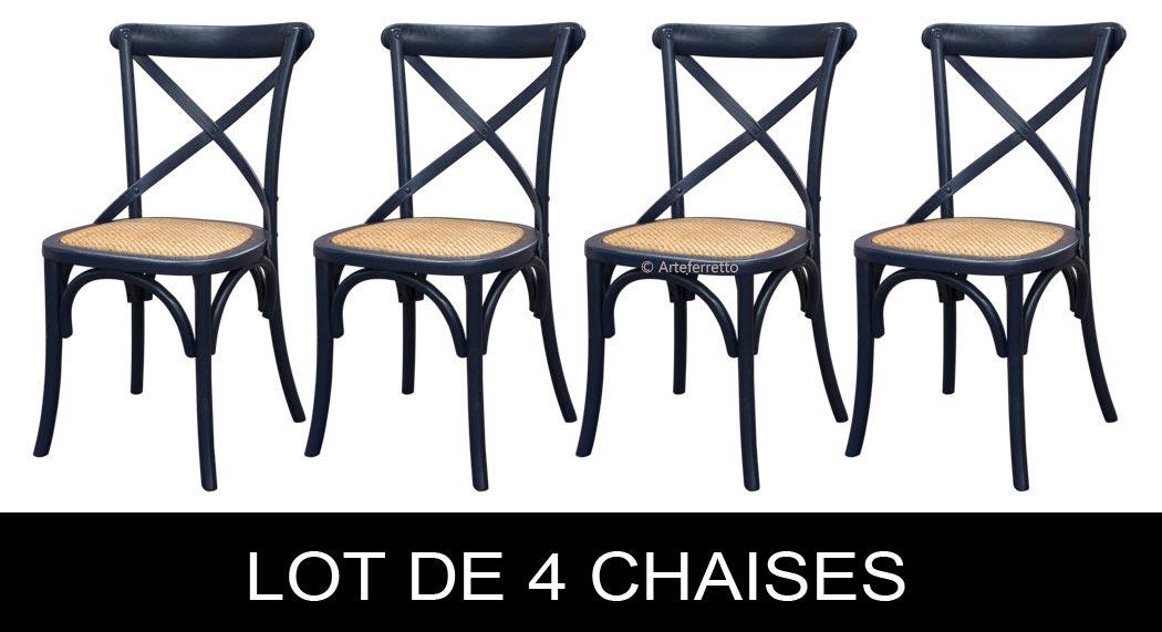 Lot De 4 Chaises De Repas Noires Lamaisonplus