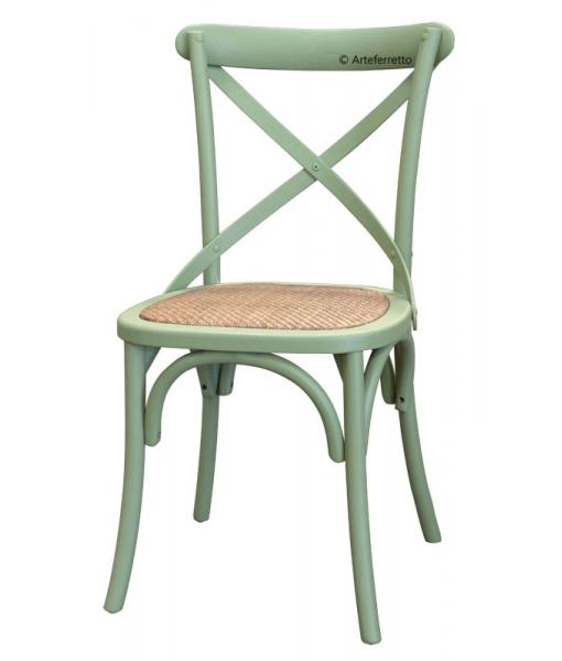 Lot de 4 chaises vertes en bois d'orme, promo chaise, lot de chaise en promo, chaise pas cher, lot de chaises pas cher