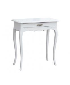 Table console laquée petites dimensions , console blanche, console en bois, table console, console classique