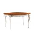 Table ovale prolongeable, table à rallonge, table ovale à rallonge, table de repas bicolore, table bicolore