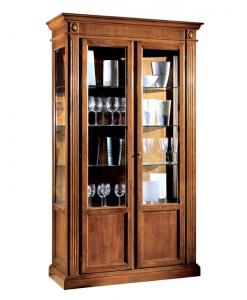 Vitrine en bois grandes dimensions, vitrine grande taille, grande vitrine pour salon, vitrine bois et verre, vitrine de salon