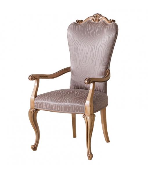 Chaise rembourrée avec accoudoirs réf. MS-03