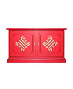Meuble buffet bas - Meuble TV, meuble tv rouge, meuble tv bas, meuble buffet rouge, meuble buffet bas, bahutbas rouge,bahut rouge, meuble laqué rouge