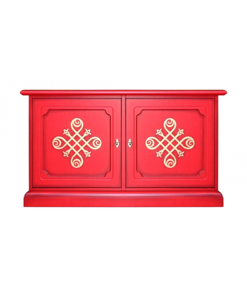 Meuble buffet bas - Meuble TV réf. 3830-RED-YOU