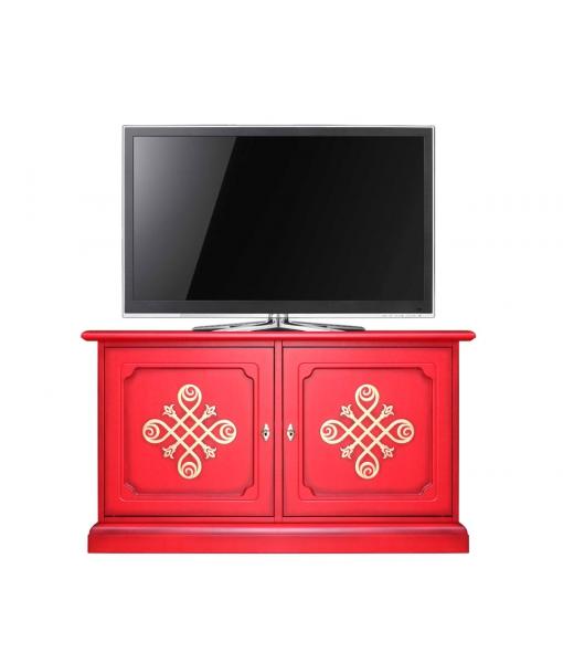 meuble buffet bas meuble tv laqu rouge you lamaisonplus. Black Bedroom Furniture Sets. Home Design Ideas