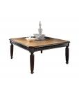 Table basse noir et merisier, table basse de salon, table basse noire, table basse en bois