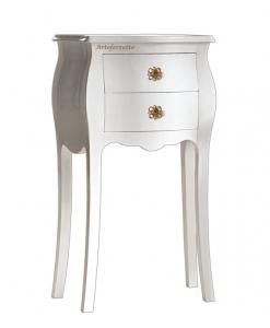 Petit meuble de rangement bombé, MEUBLE CHEVET BLANC, meuble d'appoint, chevet, meuble table de salon