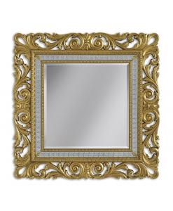 Miroir carré ou rectangulaire bois sculpté, miroir or, miroir agent, miroir grandes dimensions