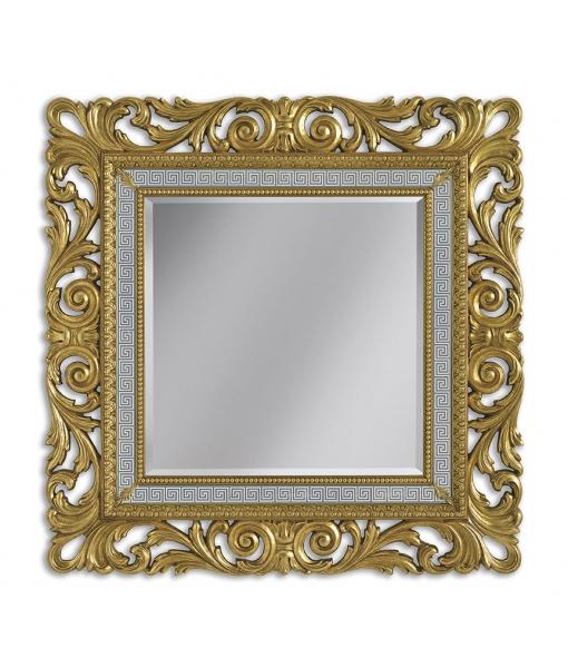 Miroir carré ou rectangulaire bois sculpté réf. G021