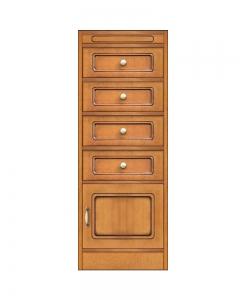 Collection « Compos » – Meuble de rangement avec tiroirs et petite porte réf. CN-126