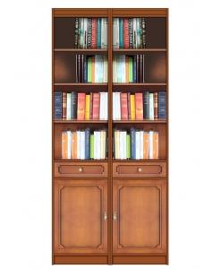 Bibliothèque modulaire en bois, bibliothèque modulaire, meuble bibliothèque haute
