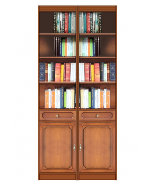 Bibliothèque modulaire en bois réf. EC-COM-02