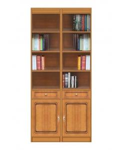 Bibliothèque modulaire en bois
