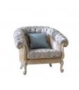 Fauteuil élégant de style classique, fauteuil haut de gamme, fauteuil rembourré