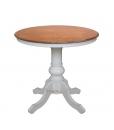 Table de thé ronde 80 cm bicolore réf. 269-BIC