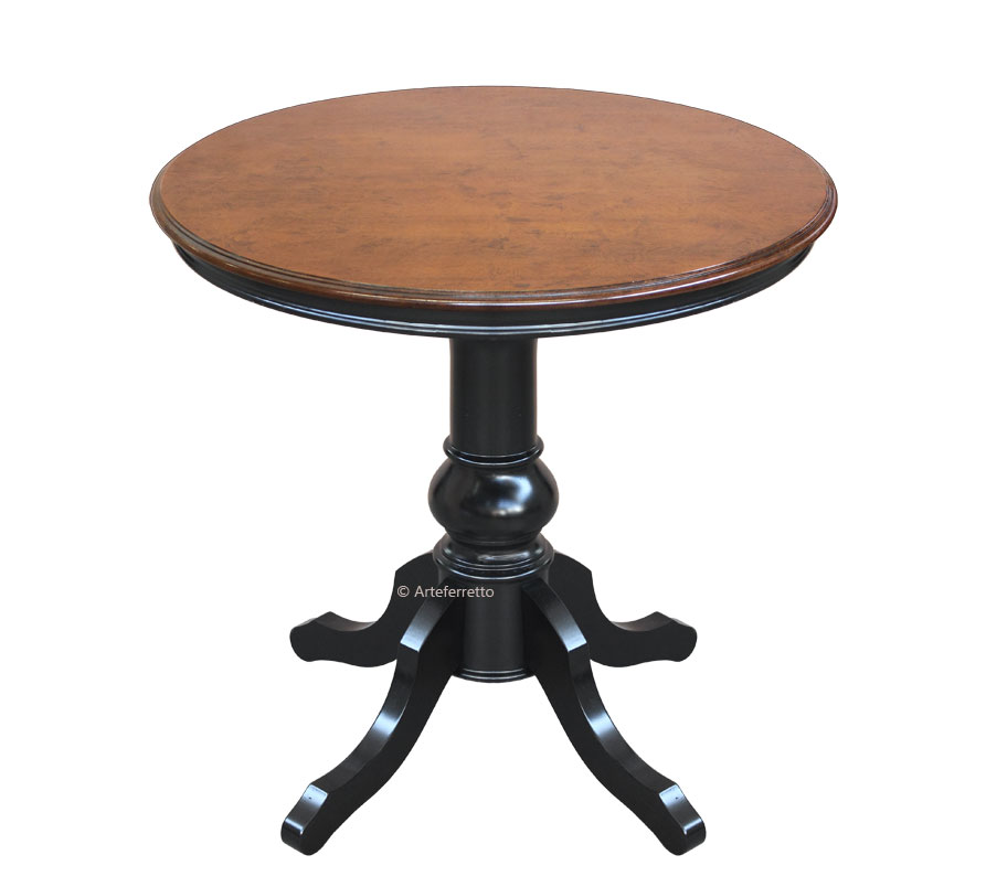 petite table ronde classique 80 cm diam tre lamaisonplus. Black Bedroom Furniture Sets. Home Design Ideas