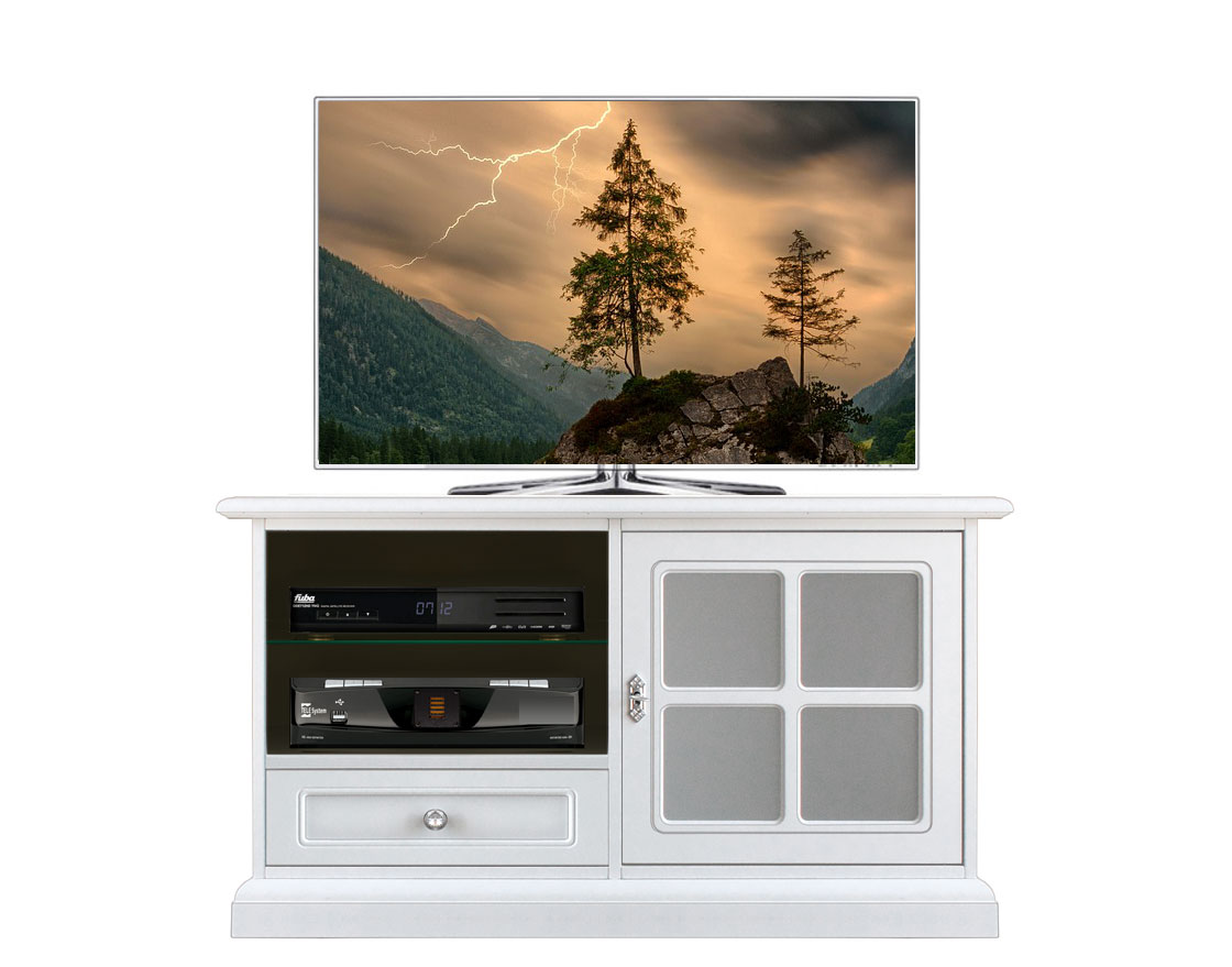 meuble tv taille moyenne avec porte vitr e lamaisonplus. Black Bedroom Furniture Sets. Home Design Ideas