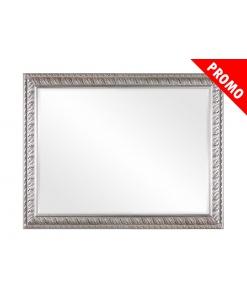 Miroir feuille or argent avec bolus rouge Promo