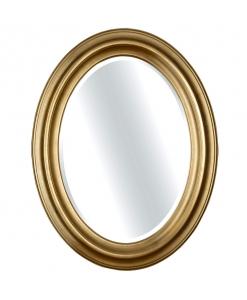Miroir oval en bois massif à la feuille d'or ou d'argent