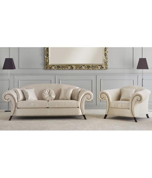 canapé, arteferretto, canapé tissu blanc, canapé design
