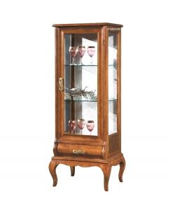 Meuble vitrine Chic 1 porte et tiroir