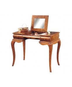 Meuble bureau à abattant, meuble coiffeuse avec miroir, petit bureau