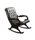 Fauteuil à bascule total black, fauteuil à bascule noir, fauteuil