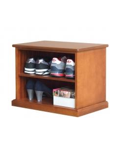 Petite banquette de rangement, banquette en bois, banquette range chaussures, meuble bas range chaussures, banquette de rangement en bois