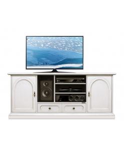 meuble tv 160 cm bois laqué, meuble tv largeur 160 cm, meuble tv style classique