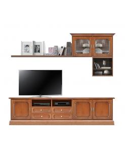 Ensemble meuble TV, composition murale meuble TV, meuble tv 250 cm, composition meuble tv
