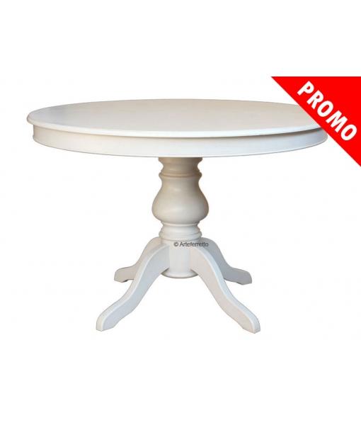 Table ronde laquée réf. 446-BI-120-promo