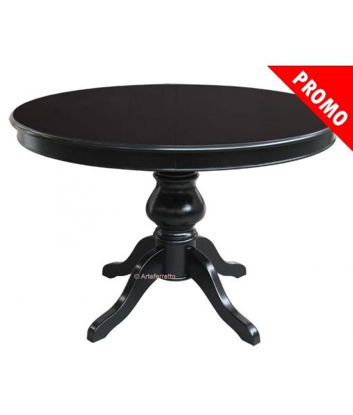 Table ronde laquée noir réf. 446-N-120-promo