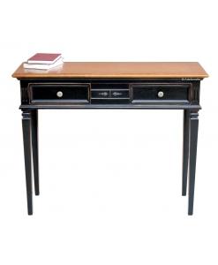 Meuble console en bois bicolore avec tiroirs