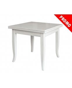 Table carrée extensible, table laquée, table salle à manger pas cher