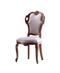 Chaise classique à oreilles, chaise classique sculptée, achat chaise en bois, chaise salon, chaise classique salle d'attente