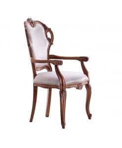 Chaise bout de table à oreilles, chaise de style classique en bois, chaise classique