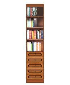 Meuble bibliothèque colonne 5 tiroirs, meuble bibliothèque étroit