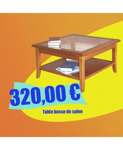PROMO ! Table de salon carrée 80x80 réf. FM-01