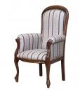 Fauteuil style Voltaire assise haute, fauteuil voltaire, achat fauteuil voltaire