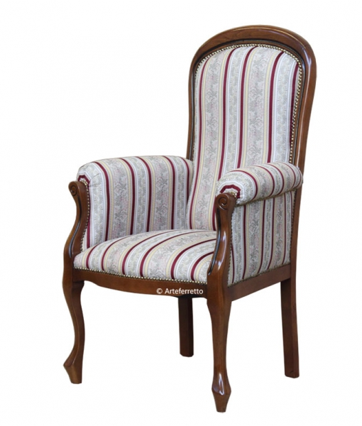 Fauteuil style Voltaire assise haute réf. GM-054