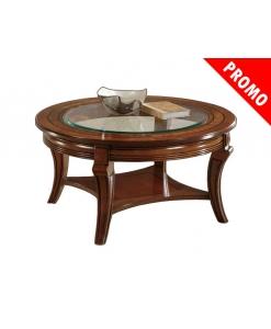 table basse ronde, table de salon ronde, table basse de salon en promotion, déstockage meubles maison